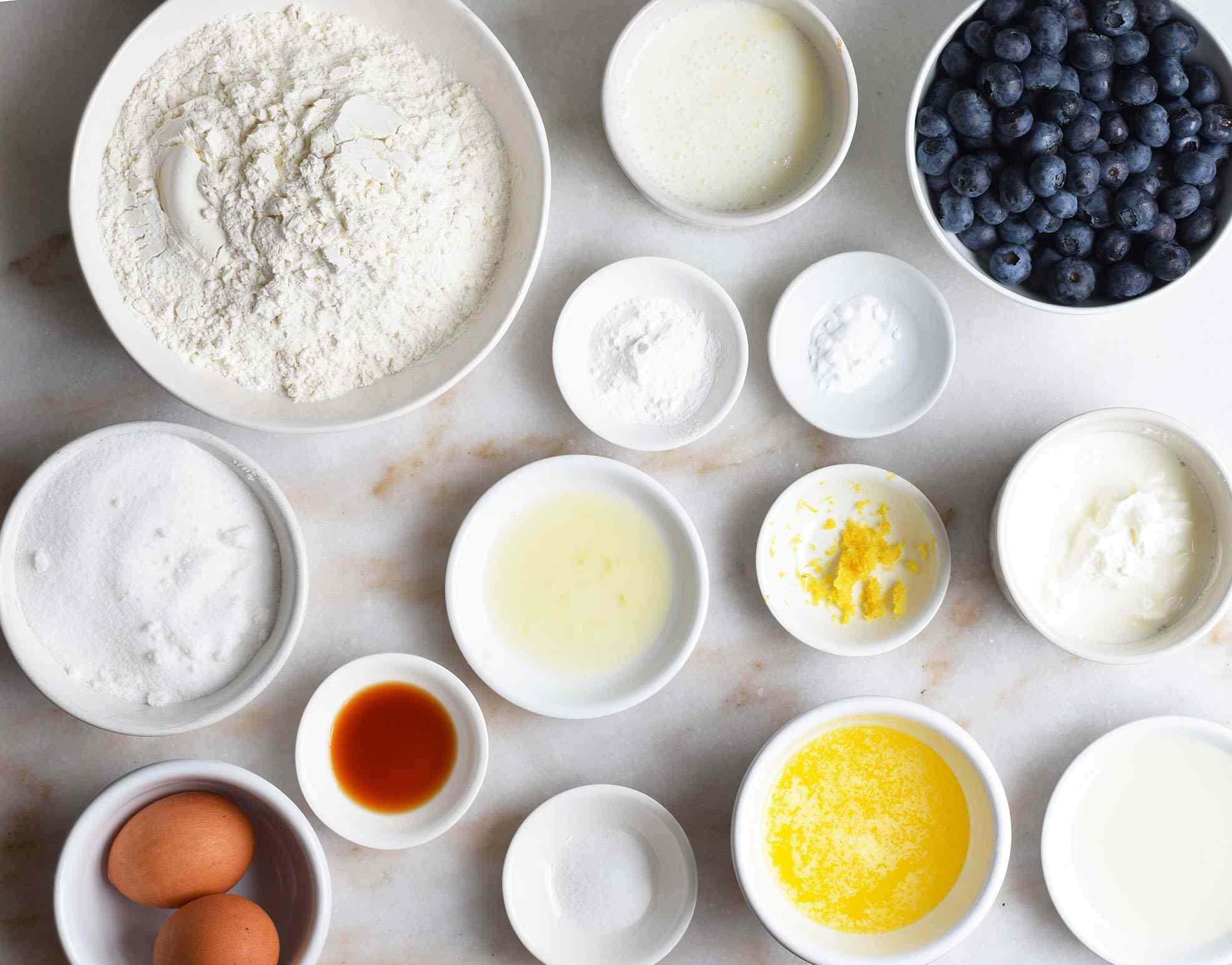 blueberry muffin ingredients