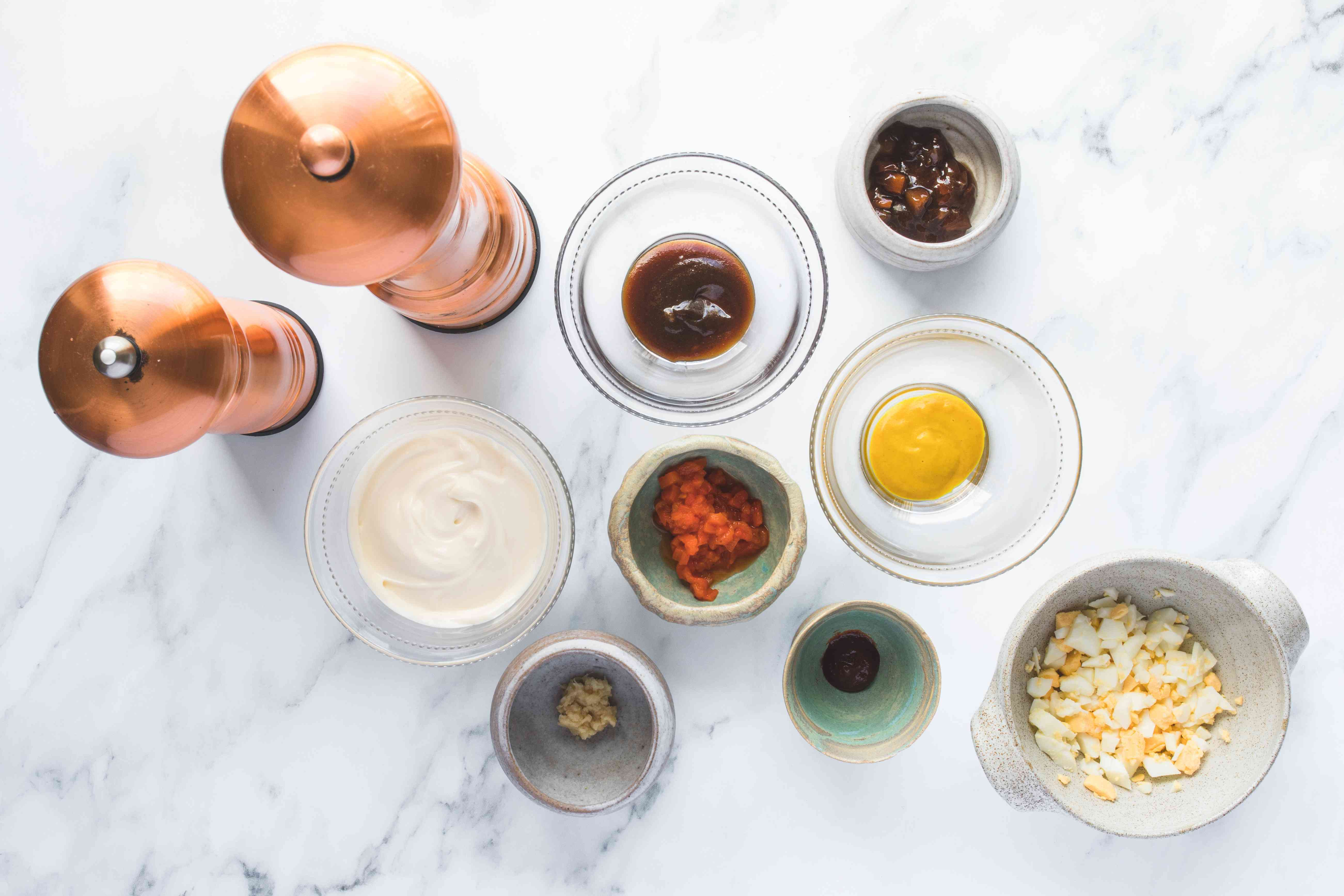 Ingredients for turkey reuben dressing