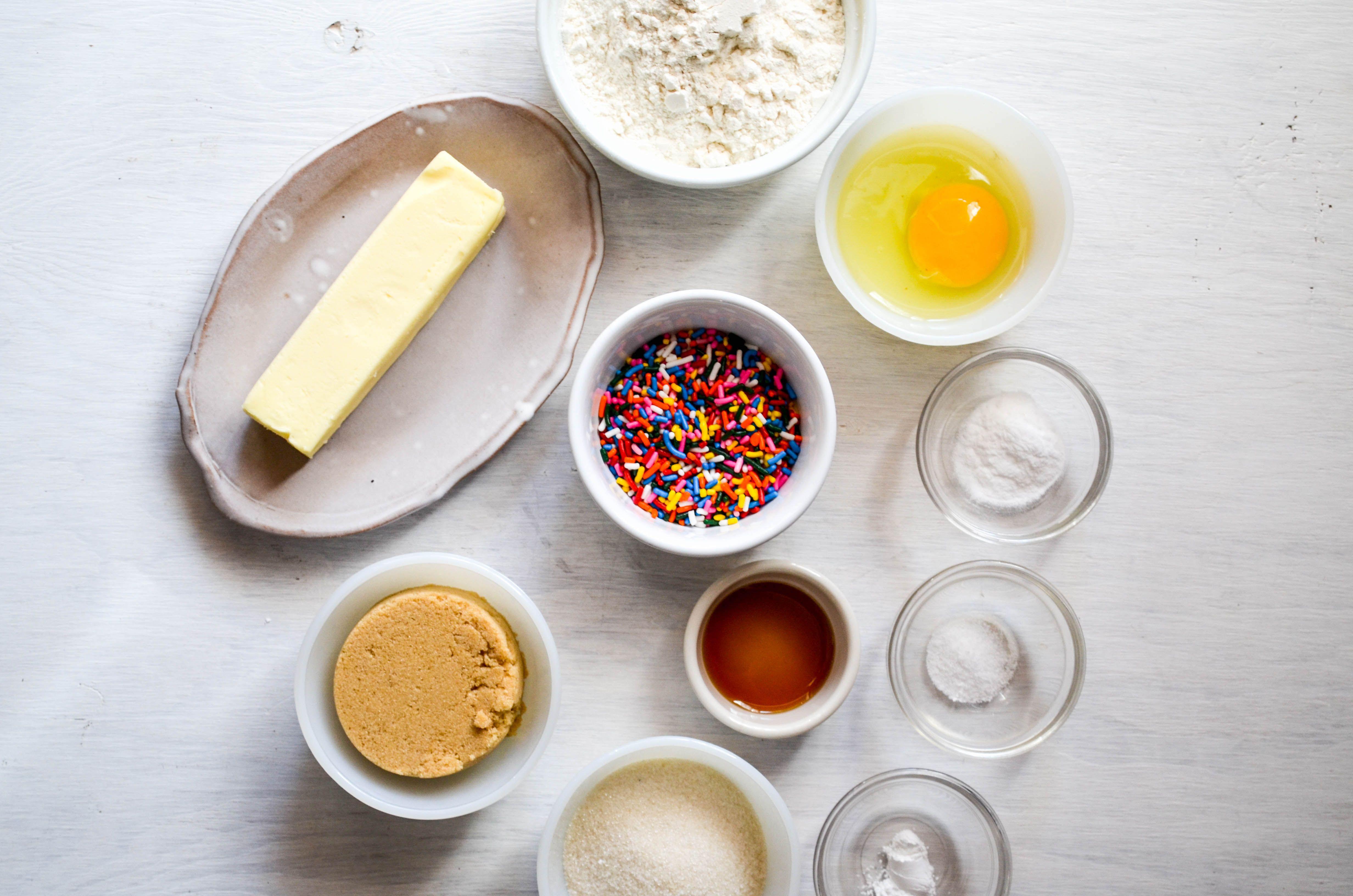 Funfetti Cookie Ingredients
