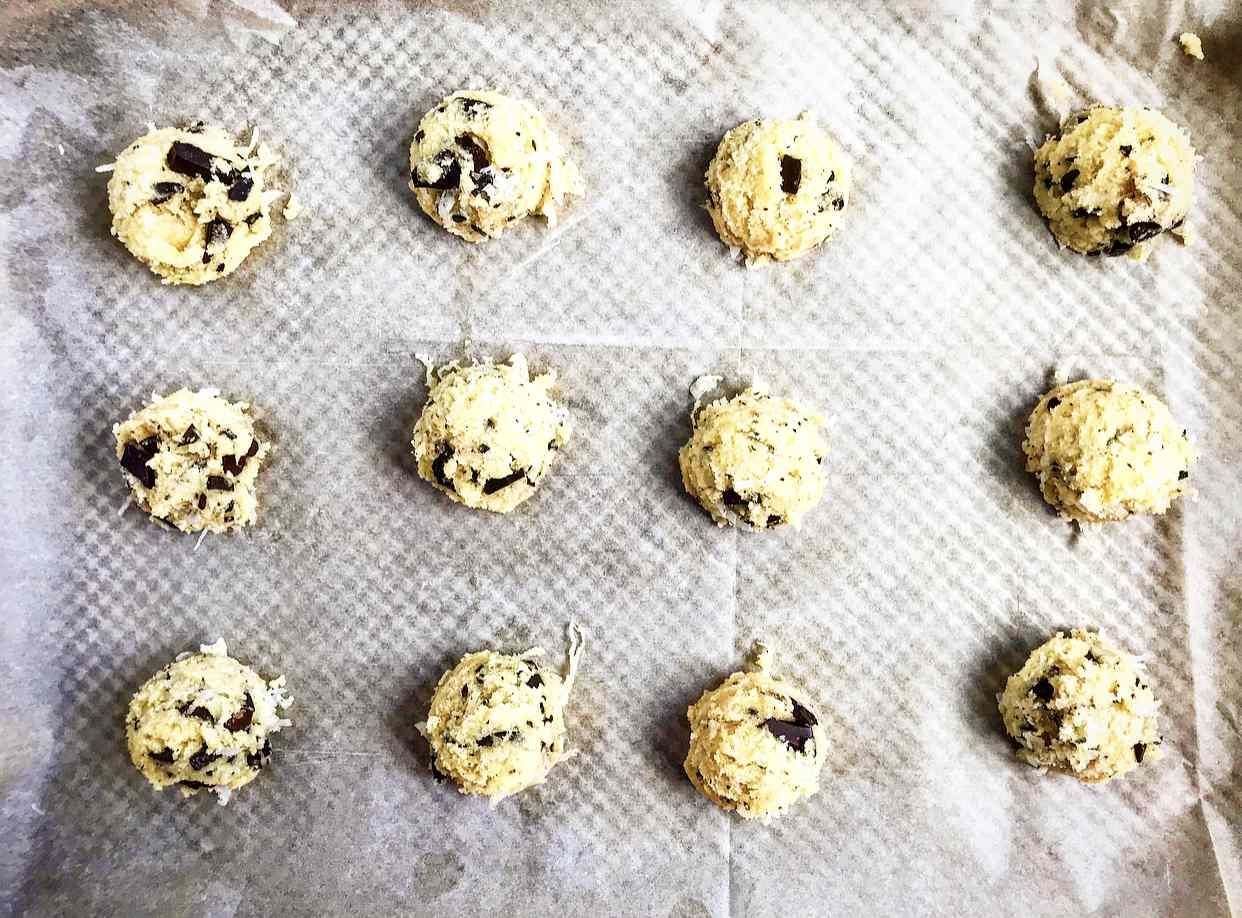 Measure out dough