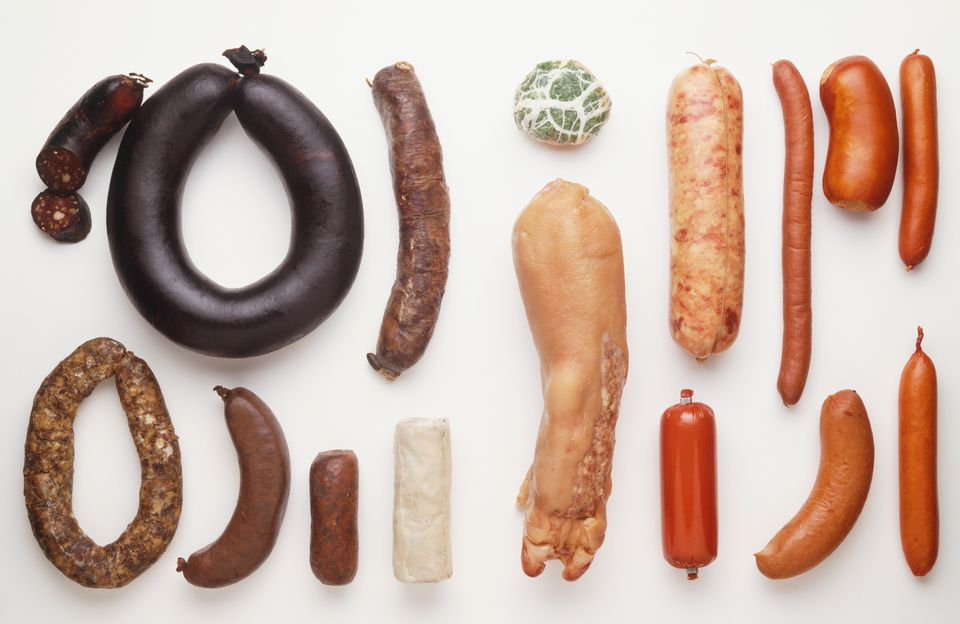 Charcuterie sausages
