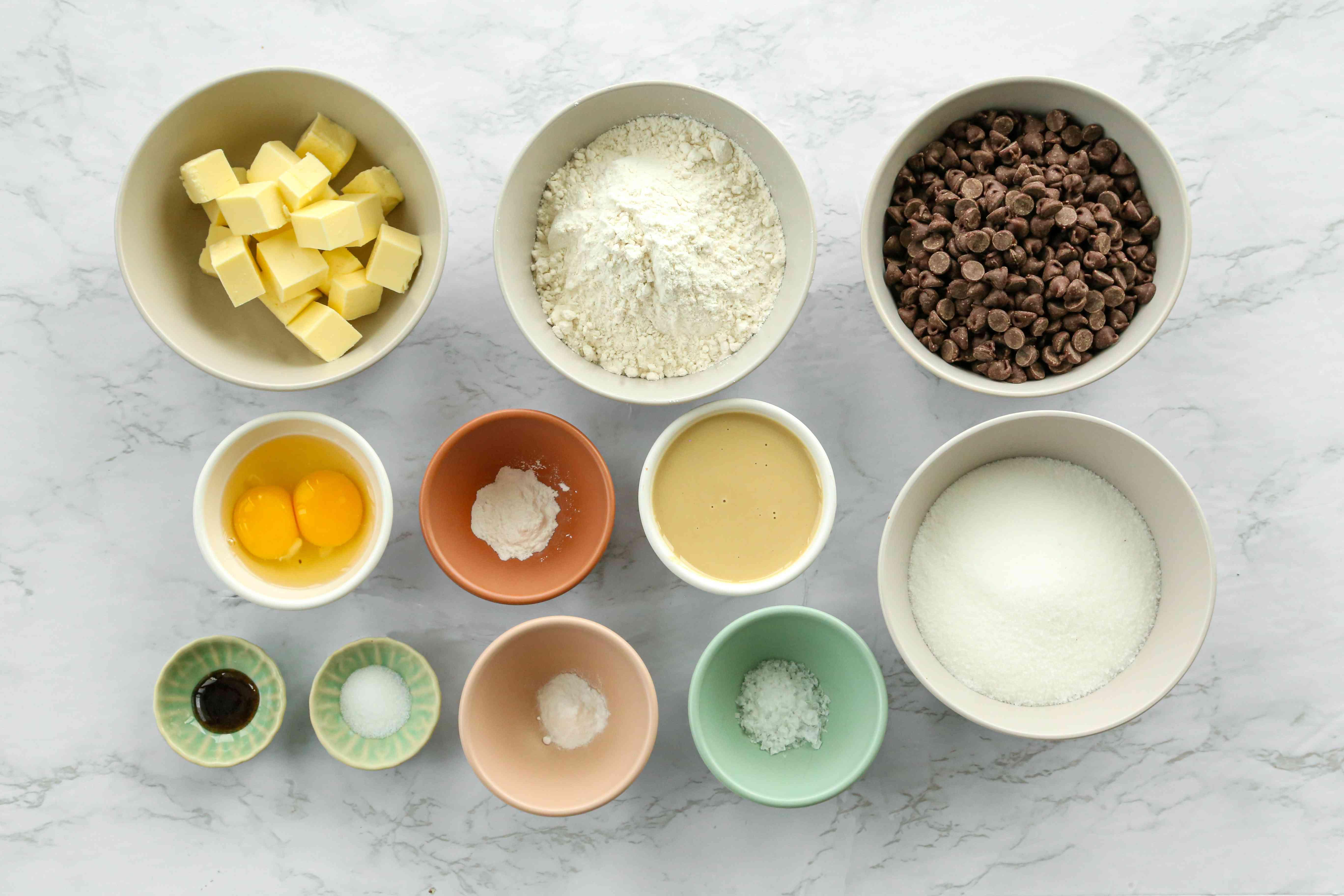 Salted Chocolate Chip Tahini Cookies ingredients