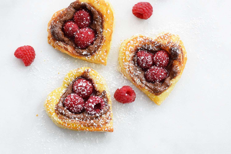 Raspberry Nutella Hearts