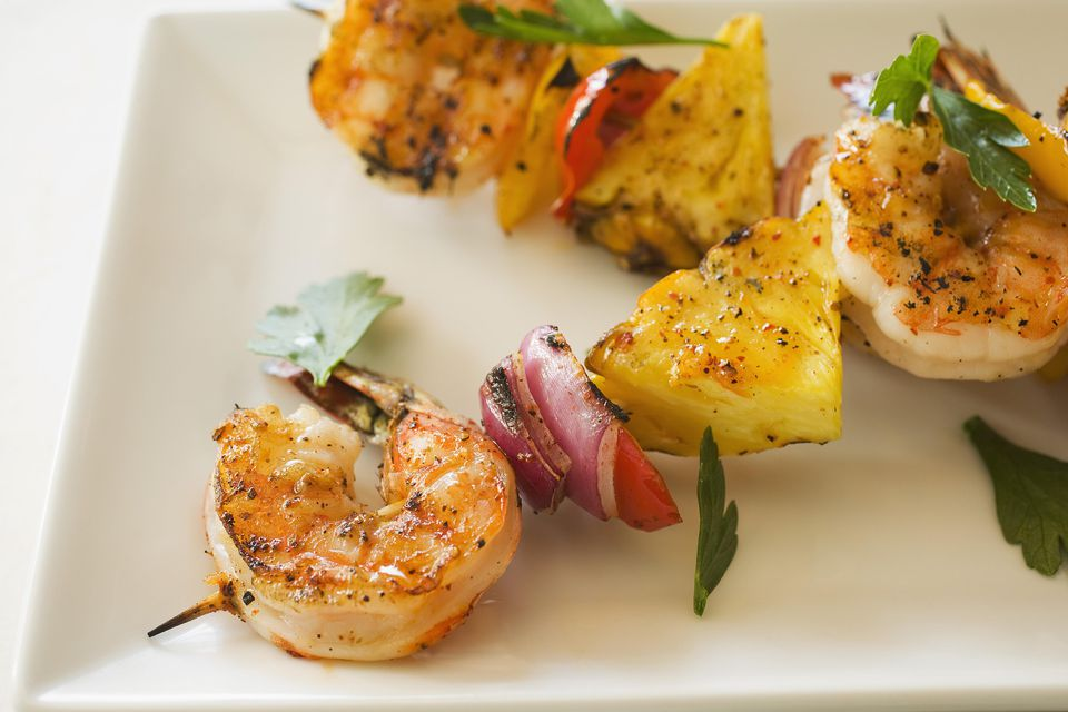 Pineapple-Chili Shrimp Kebabs