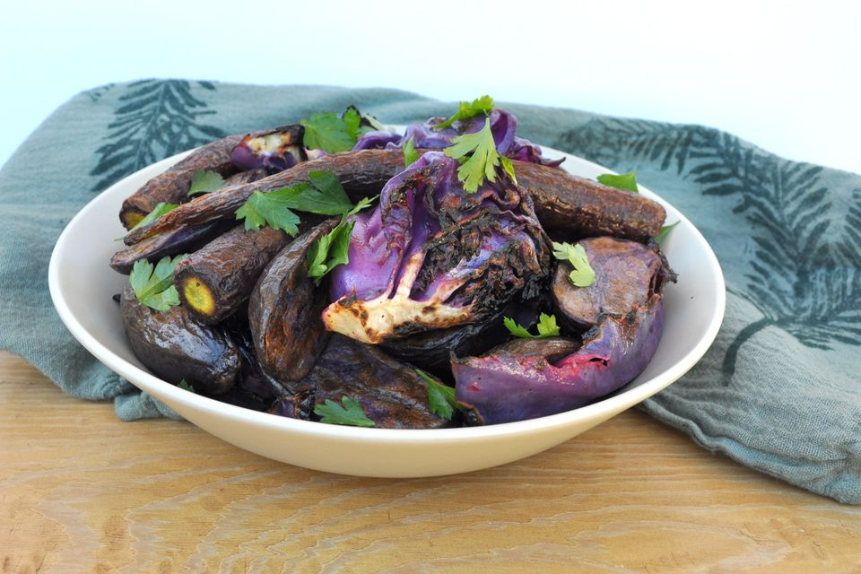 grilled purple salad