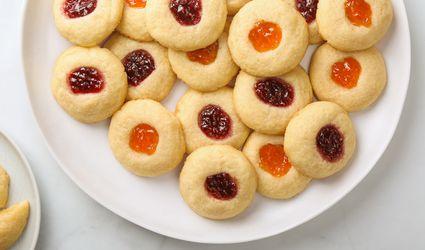 6-Ingredient Jam Thumbprint Cookies