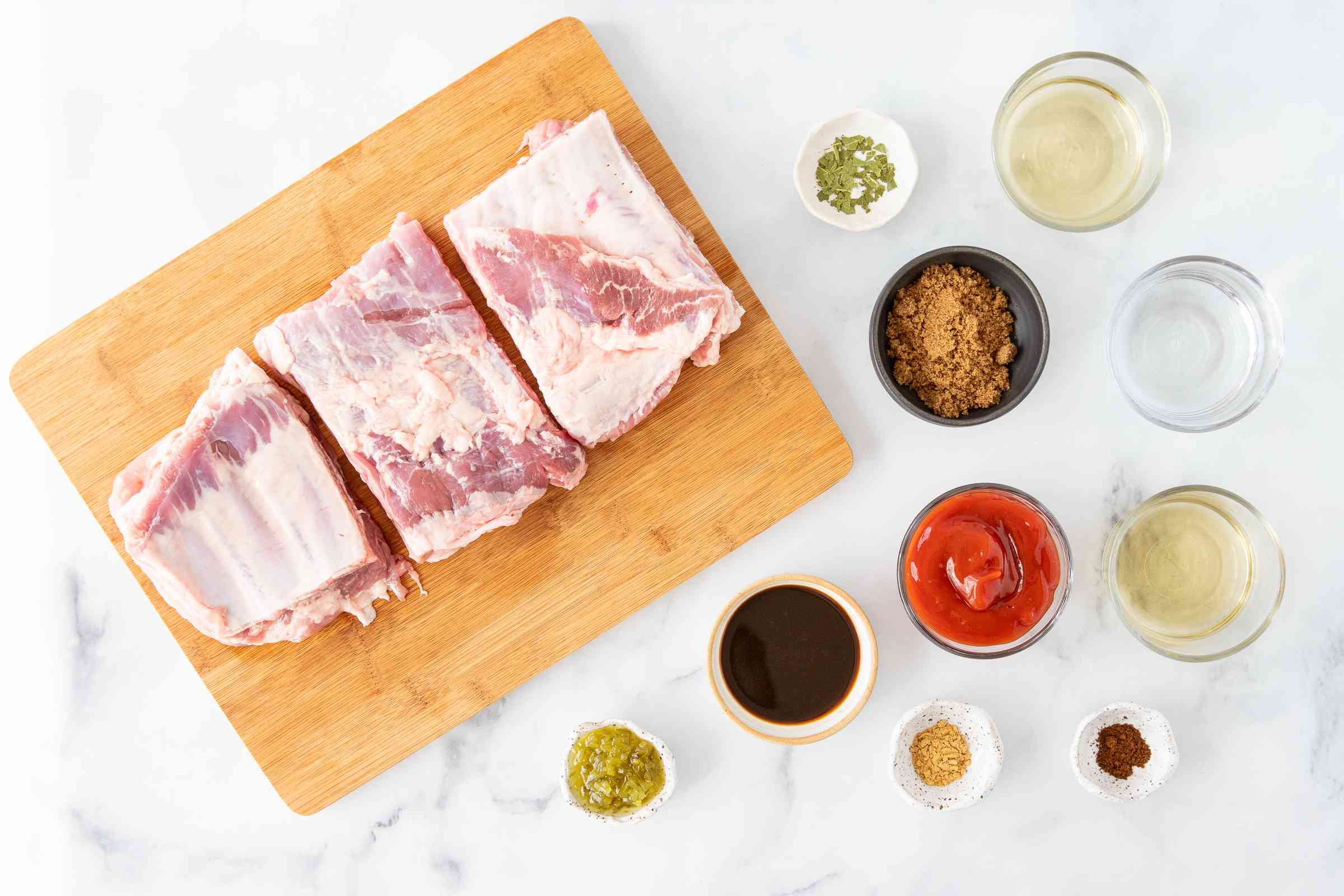Marinated Grilled Spareribs With Homemade Barbecue Sauce ingredients