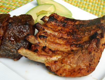 Grilled pork ribs - costillas de cerdo a la parilla