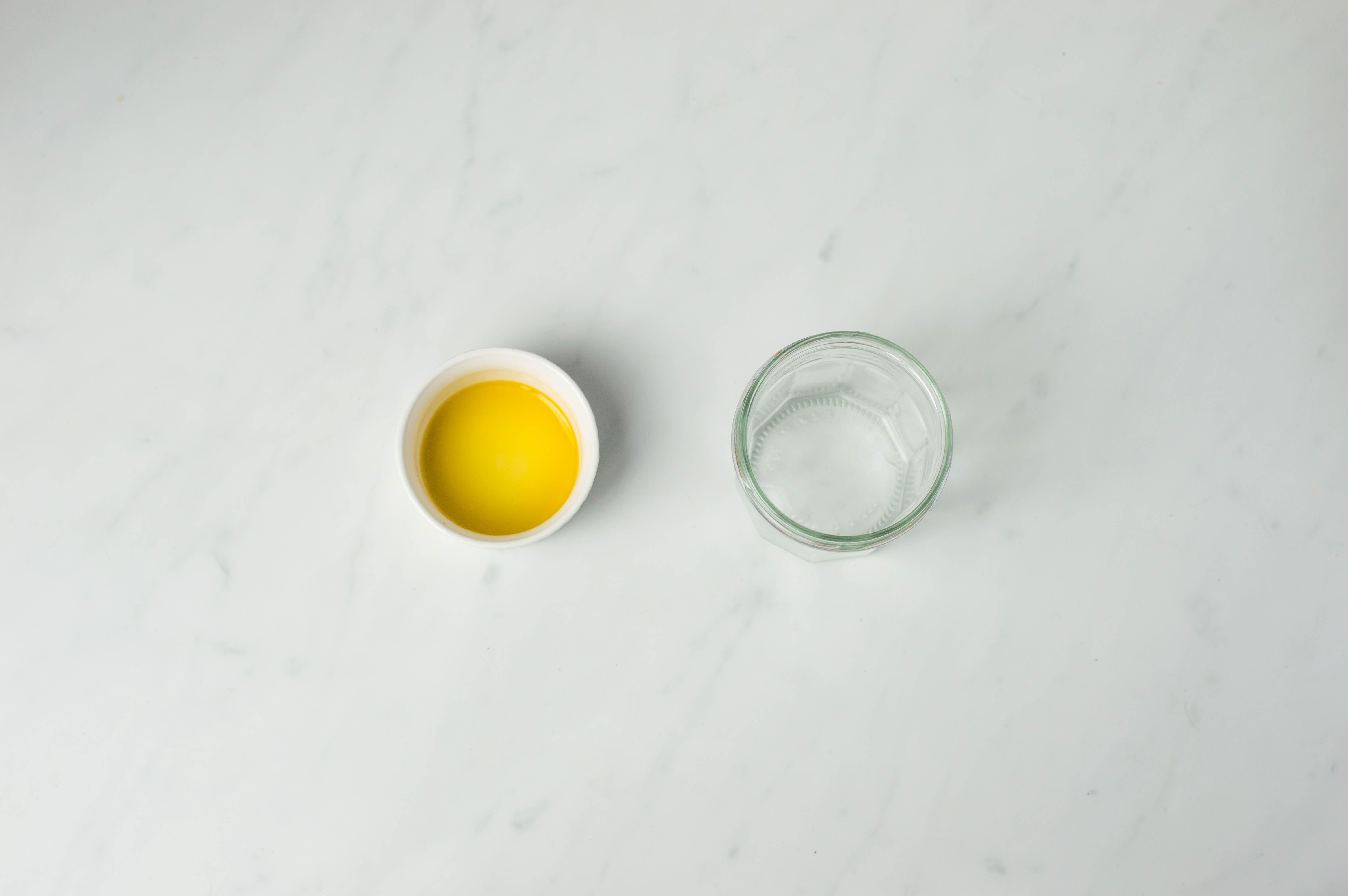 Jam jars and olive oil