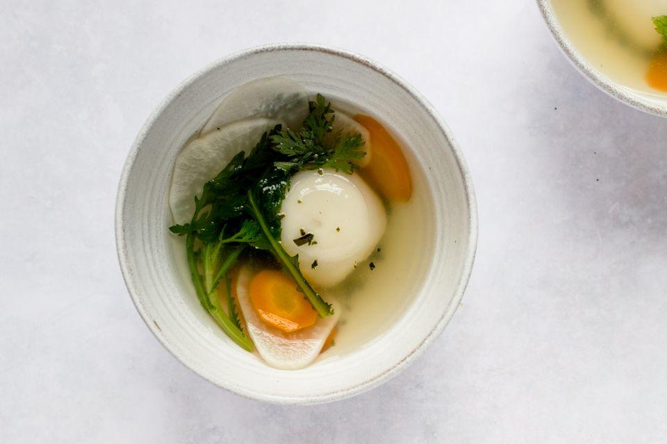 Vegan Ozoni (Japanese New Year's Soup With Rice Cake)