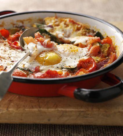 Spanish baked eggs recipe