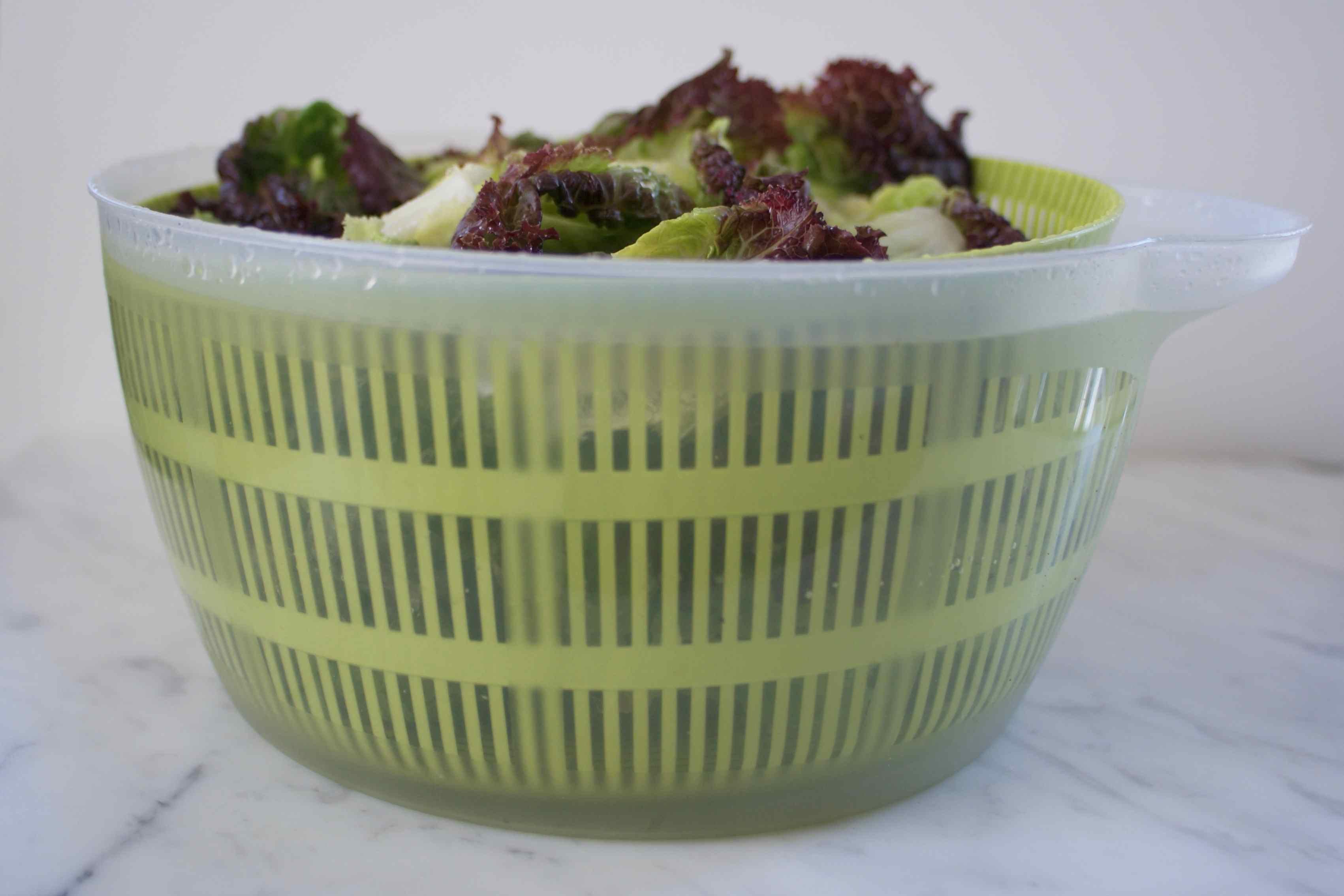 Lettuce In Salad Spinner