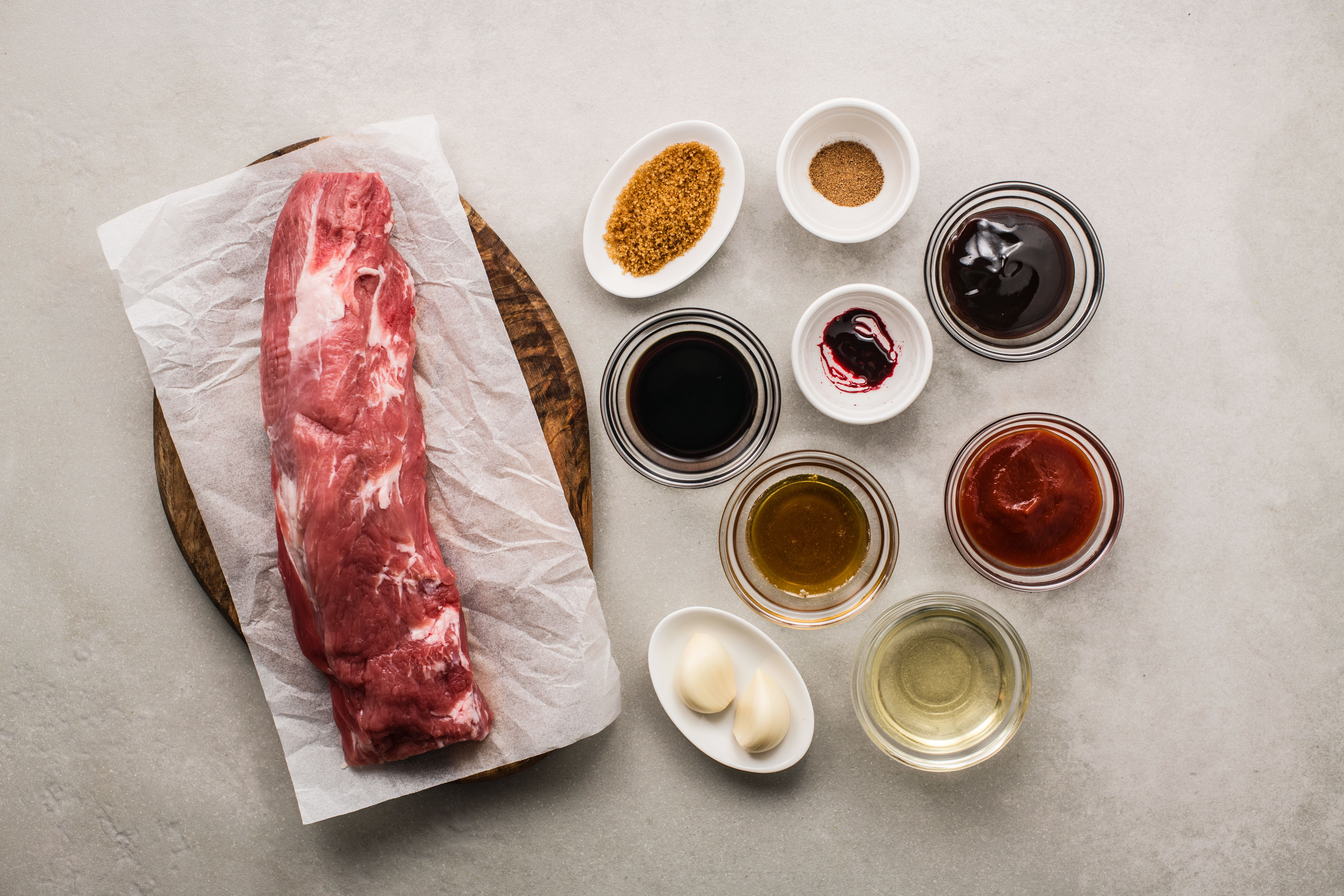 Ingredients for barbecue pork recipe