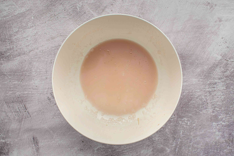 potato water in a bowl
