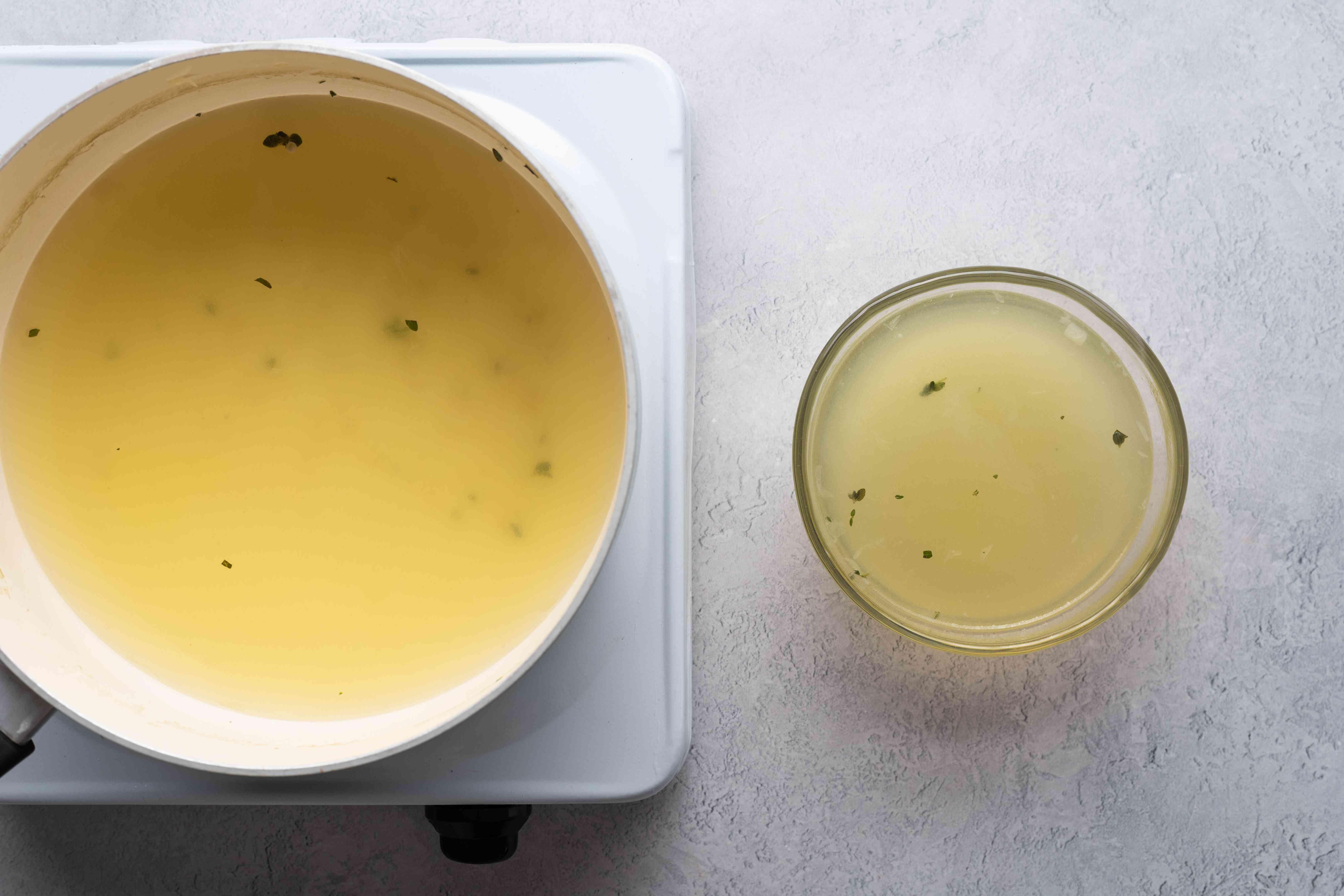 okra liquid in a bowl