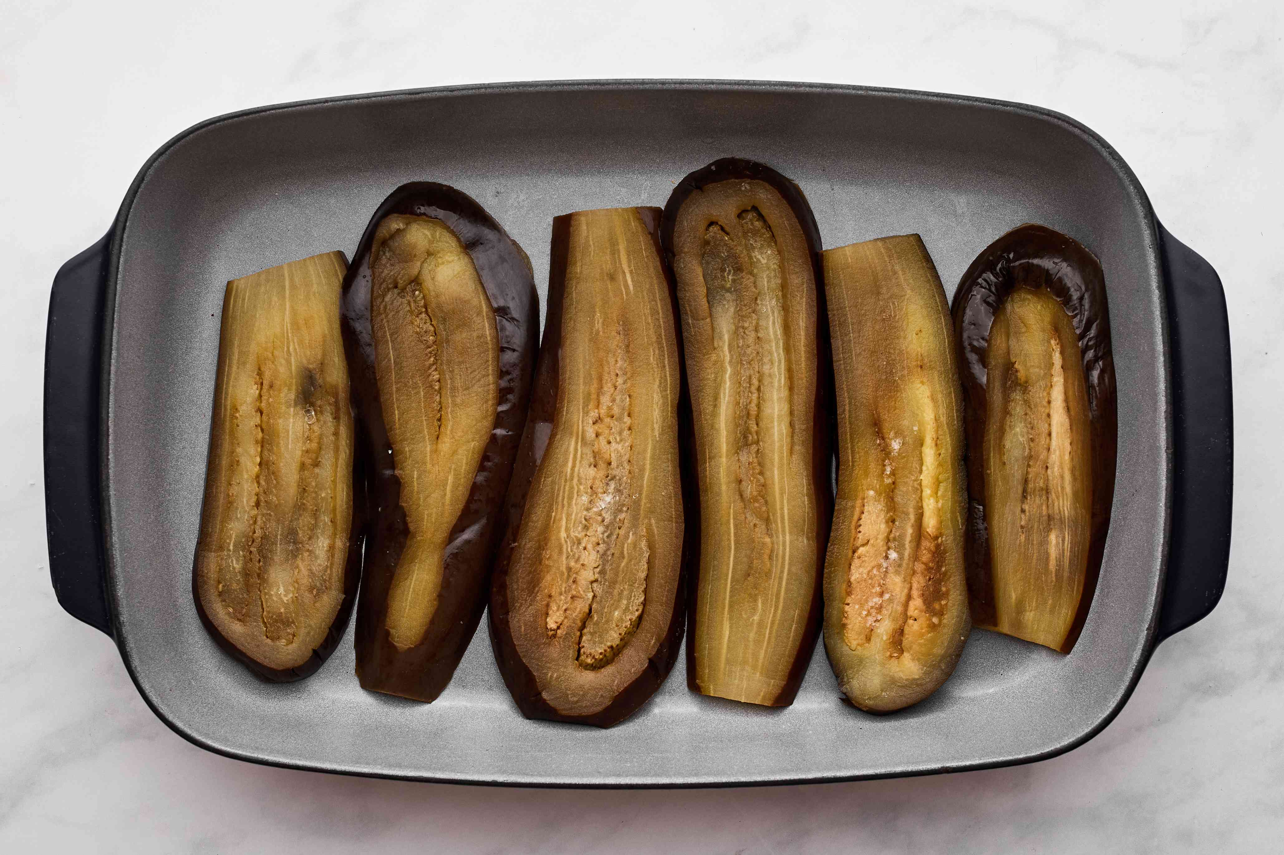 eggplant in a baking dish