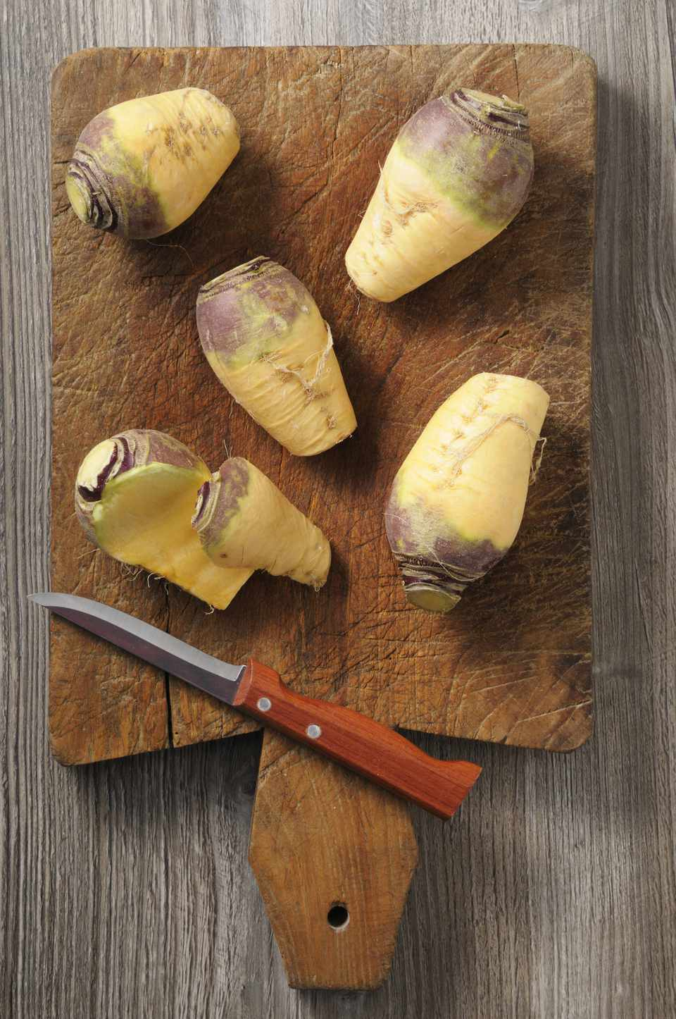rutabaga on a cutting board
