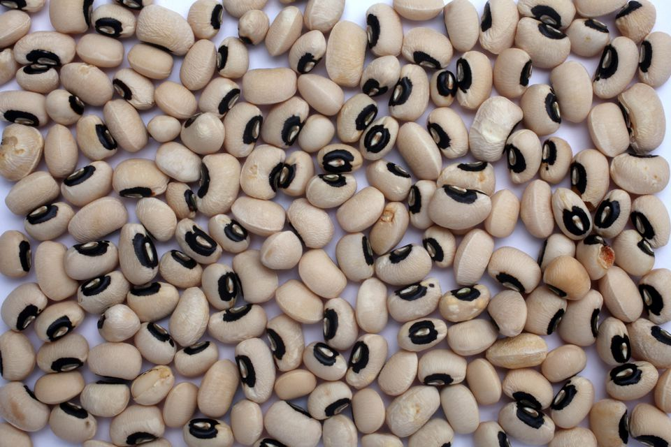Directly Above View Of Black-Eyed Peas