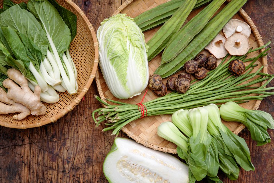 Variety of Chinese Vegetables