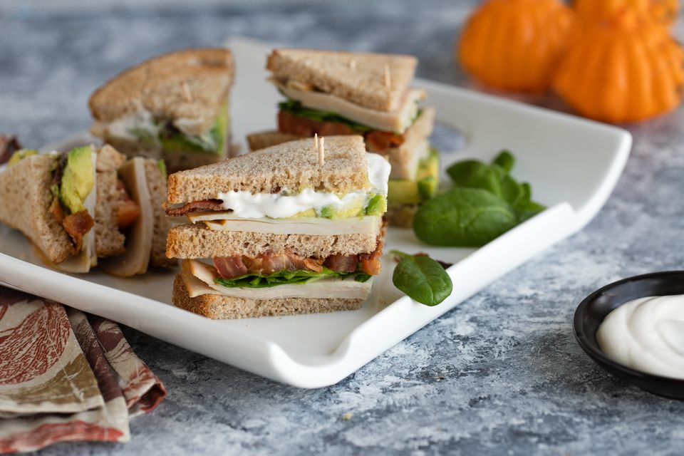 Turkey bacon avocado club sandwich recipe