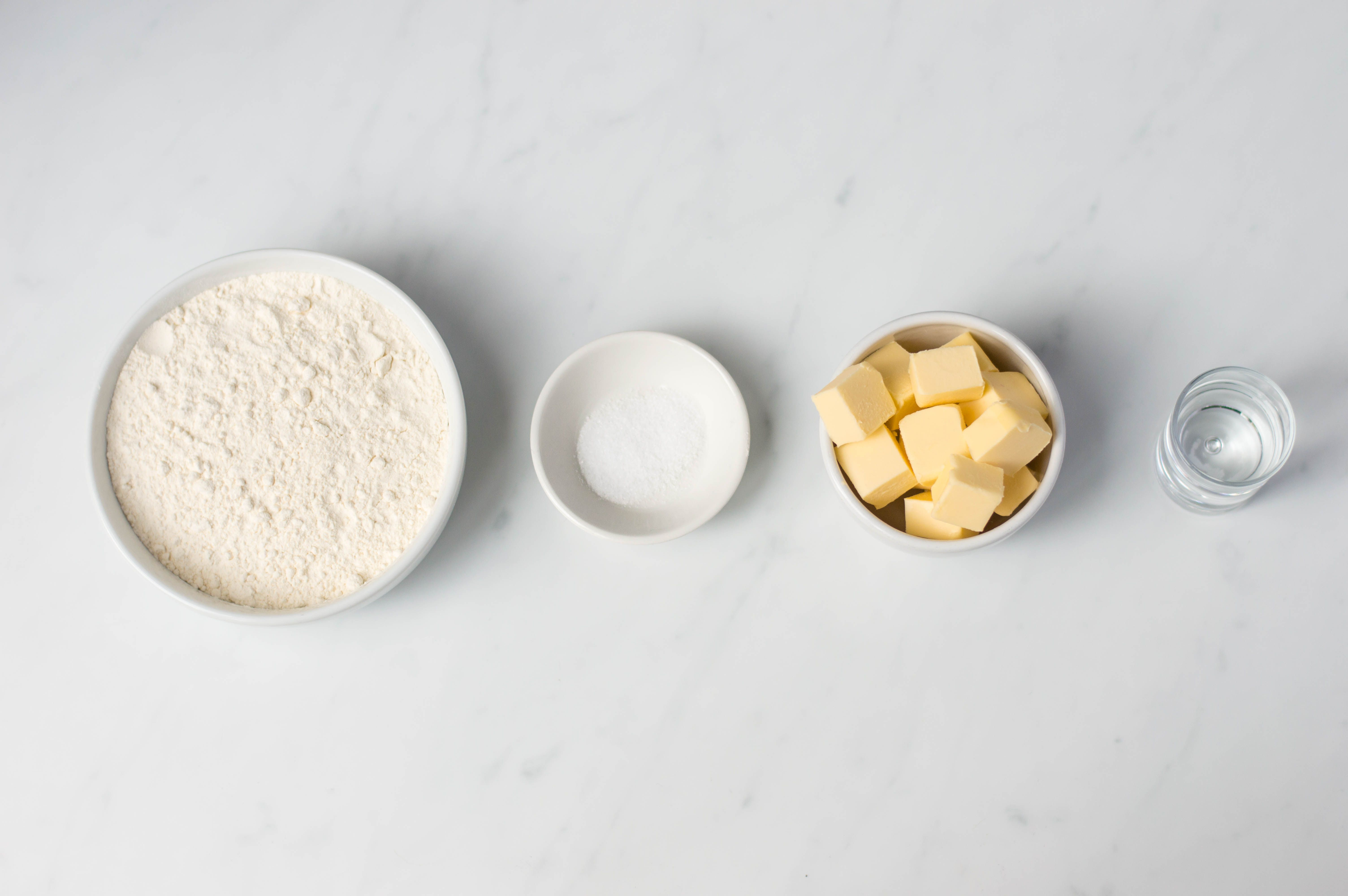 Ingredients for Bakewell Tart pastry