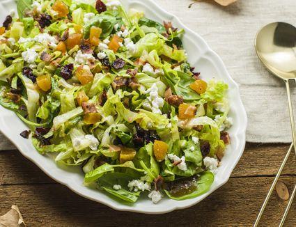 Colorful autumn salad recipe