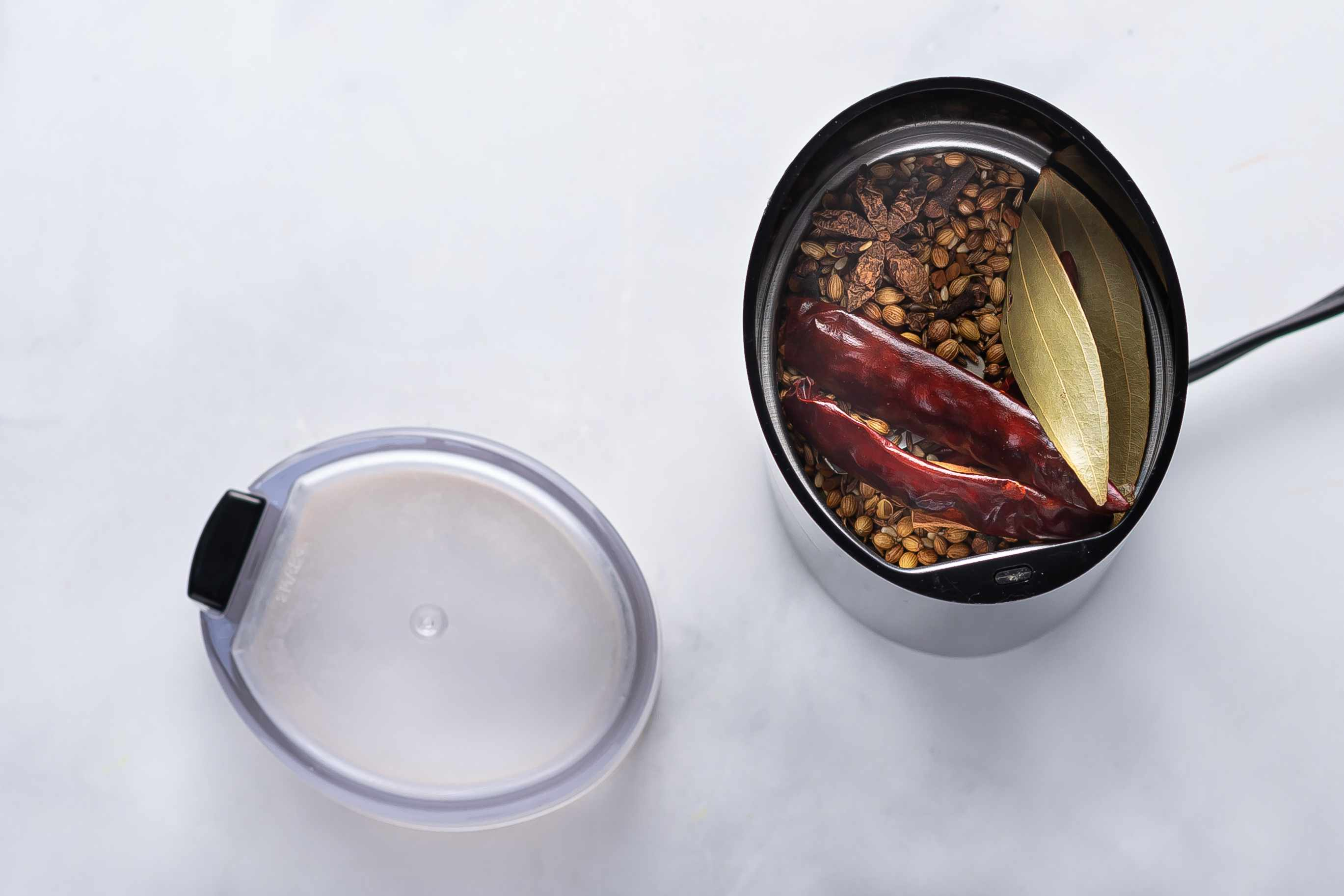 grind the spices in a spice grinder