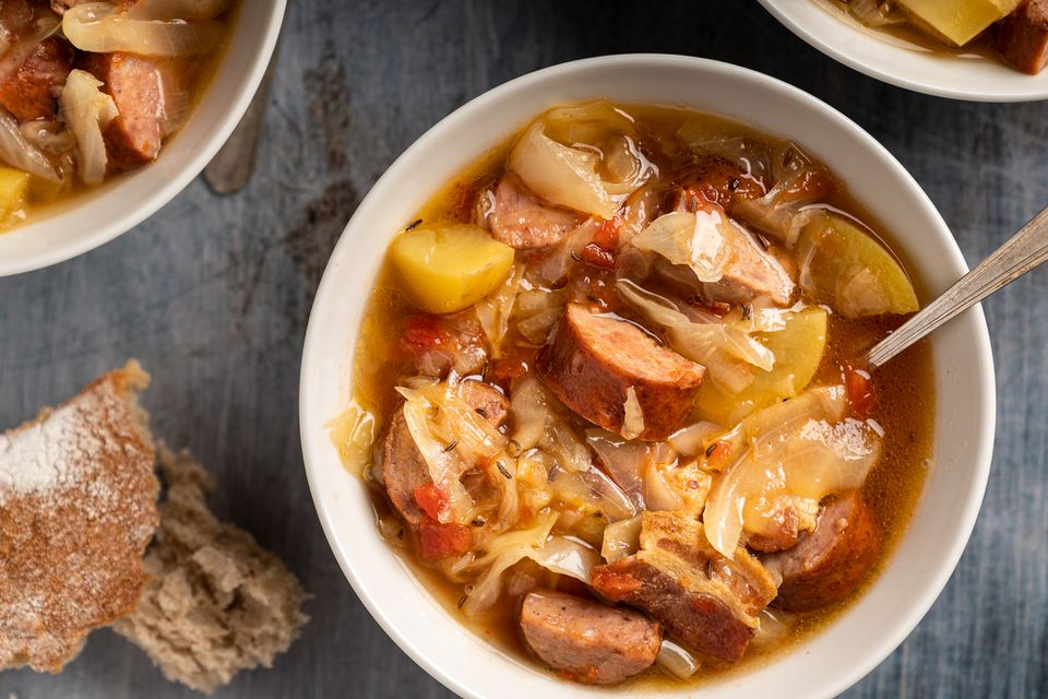 Slow Cooker Polish Sausage and Cabbage Soup
