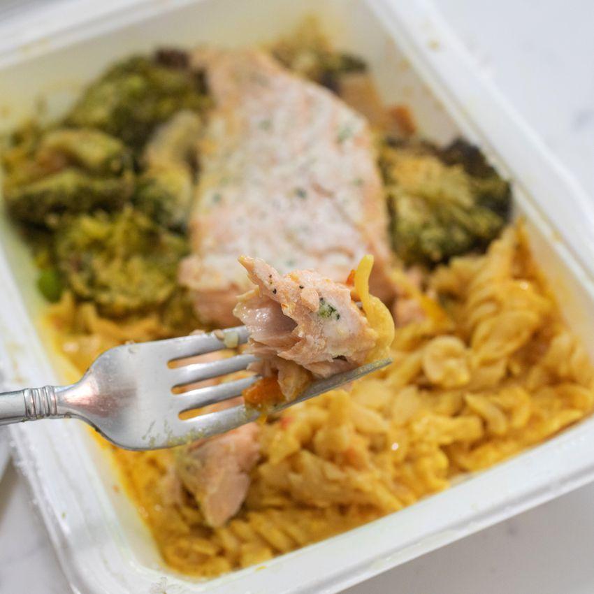 Fresh n Lean food on fork
