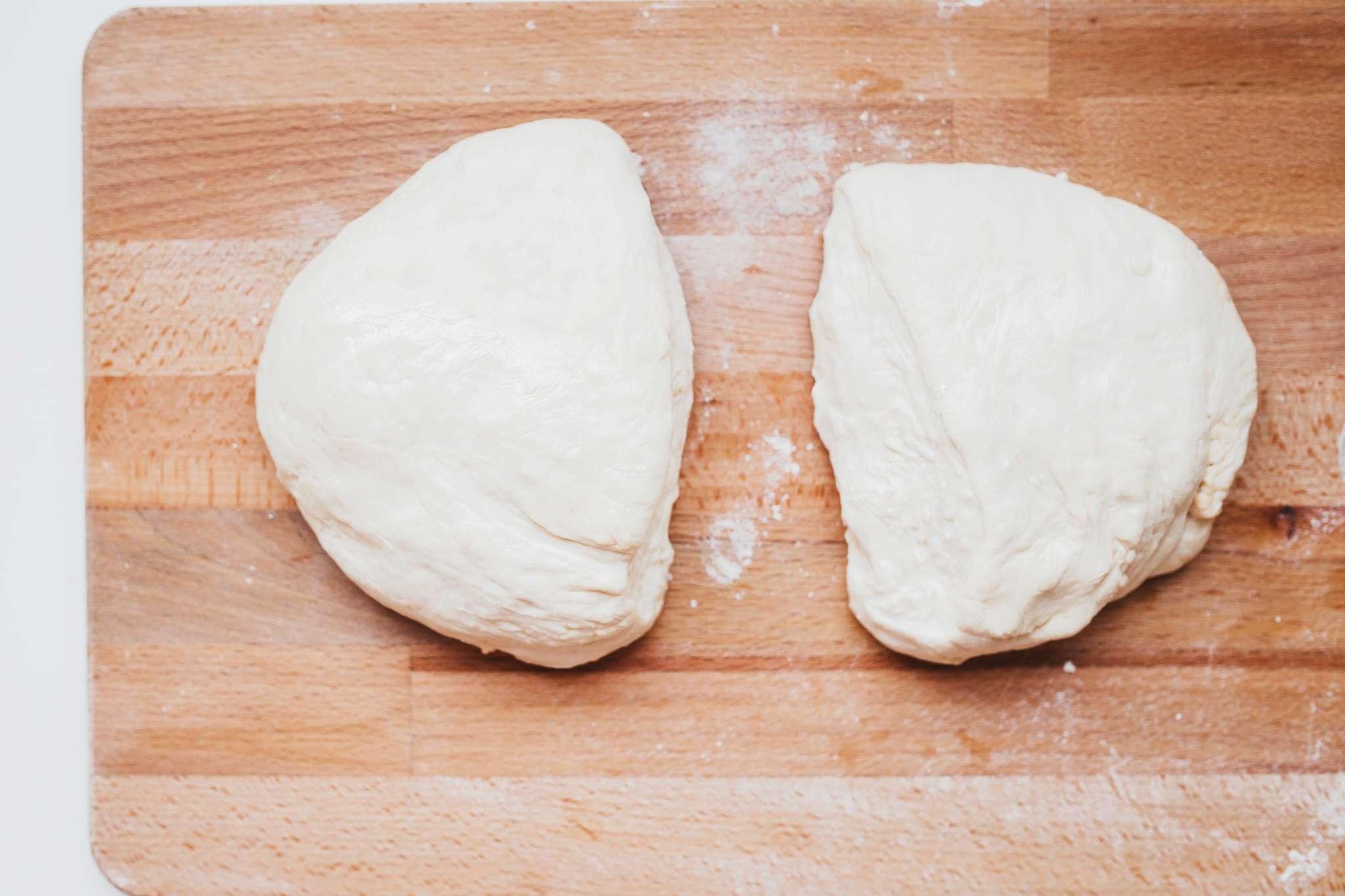 Divide dough into two parts