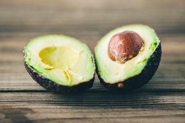 Ripe avocado cut open