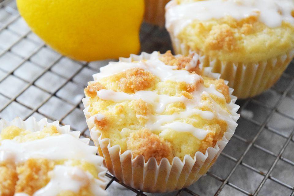 Muffins de limón y migas