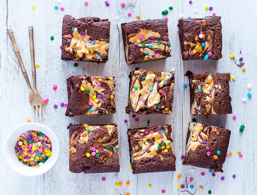 Funfetti Cheesecake Brownies