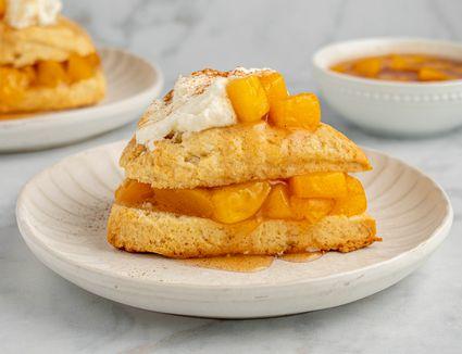 Peach Shortcakes With Cream Scones