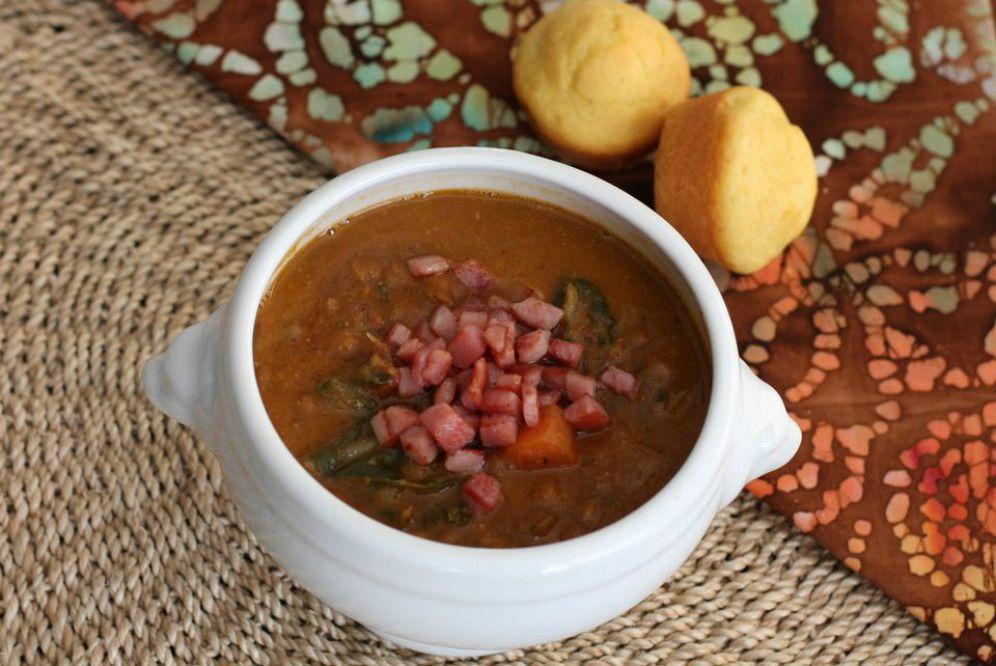 Slow Cooker Lentil Soup With Ham
