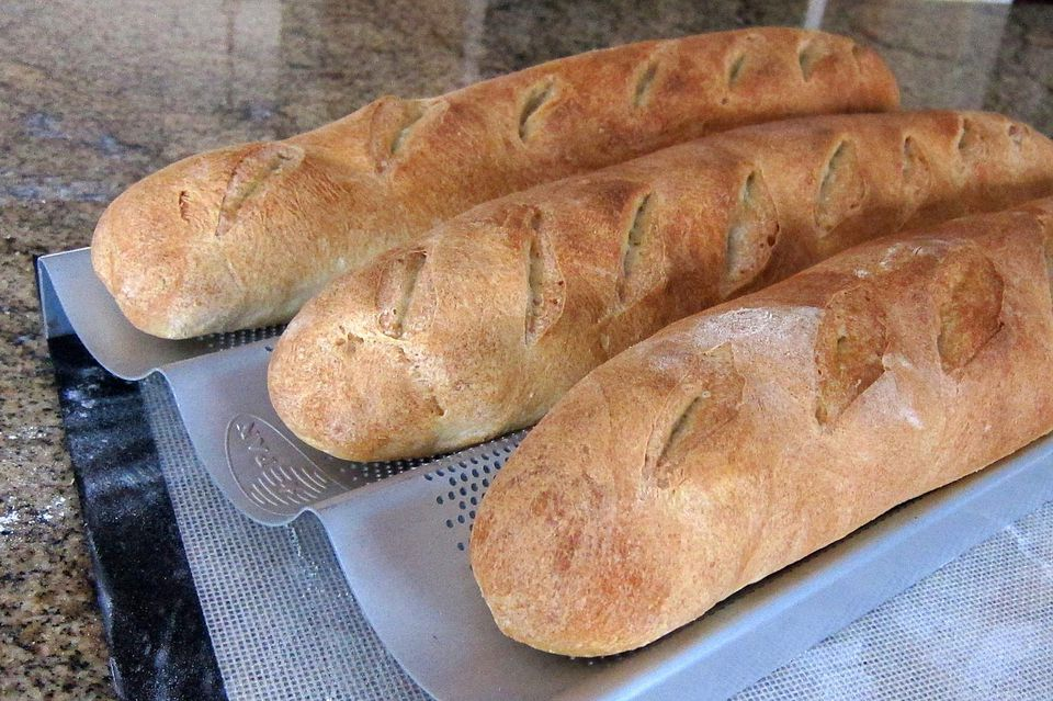 4 Ingredient French Bread Baguettes