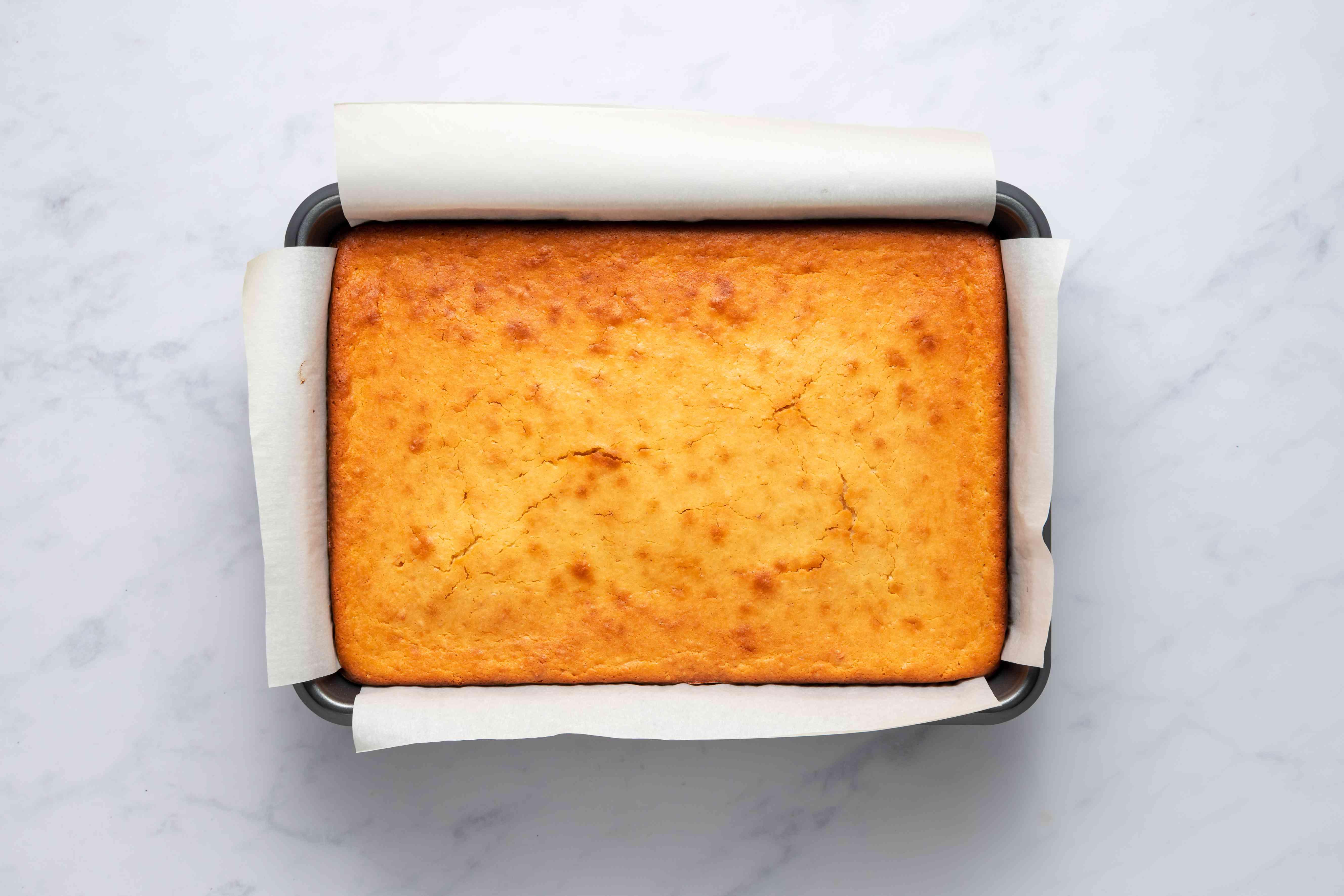 Baked mochi cake