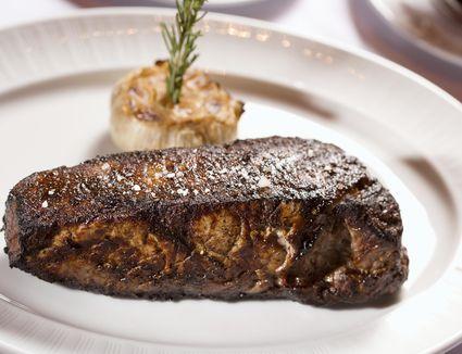Grilled Strip Steak on plate