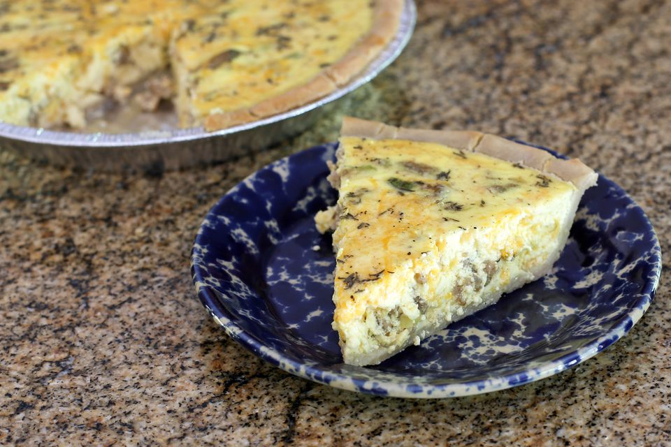 Sausage Quiche With Shredded Cheese