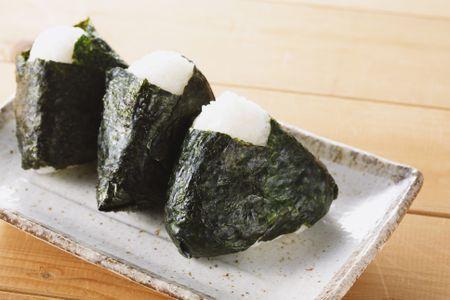Karashi Mentaiko Onigiri (Spicy Cod Roe Rice Ball)