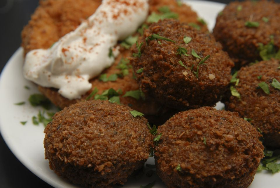 falafel con habas