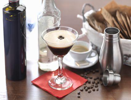 Traditional Italian drink, the espresso martini