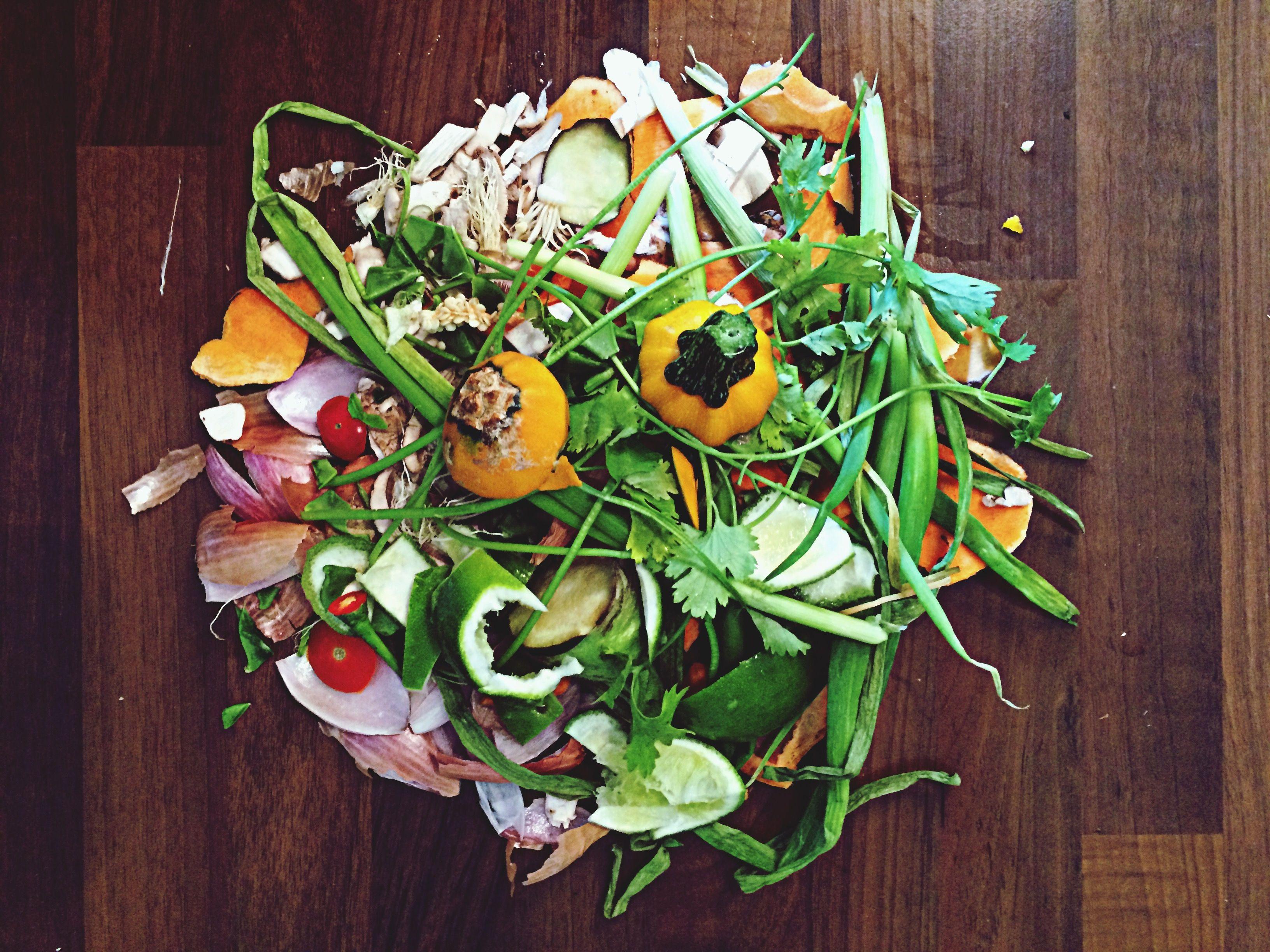 Vegetable peels and scraps