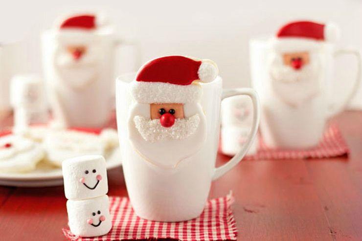 Santa mug cookies