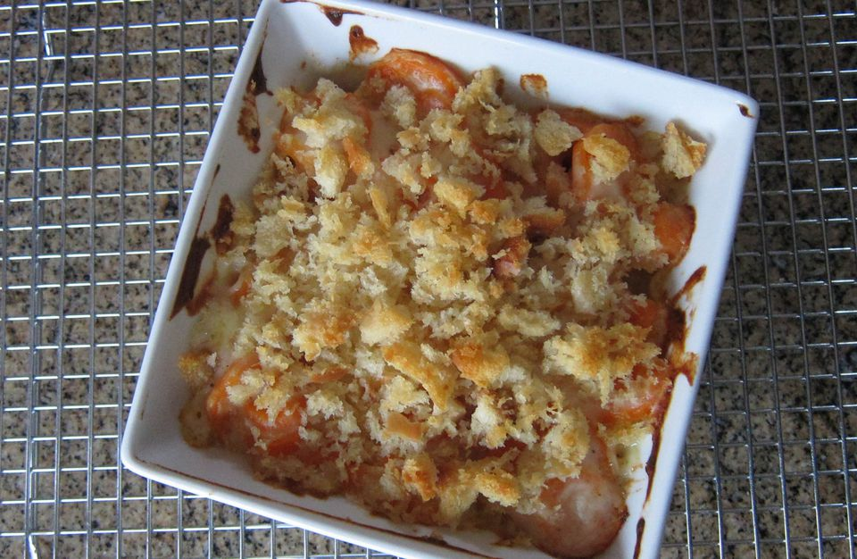 Carrot Casserole with Bread Crumbs