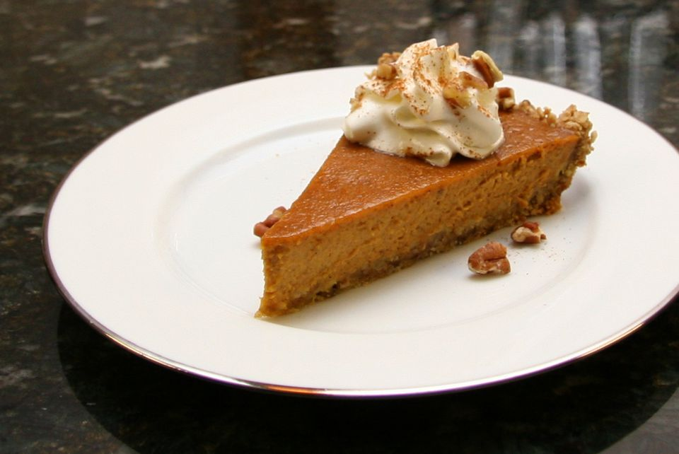 Pumpkin Pie With Oat Crust