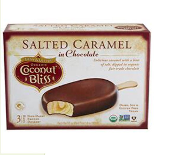 Coconut Bliss Organic Non-Dairy Frozen Dessert Bars, Salted Caramel in Chocolate