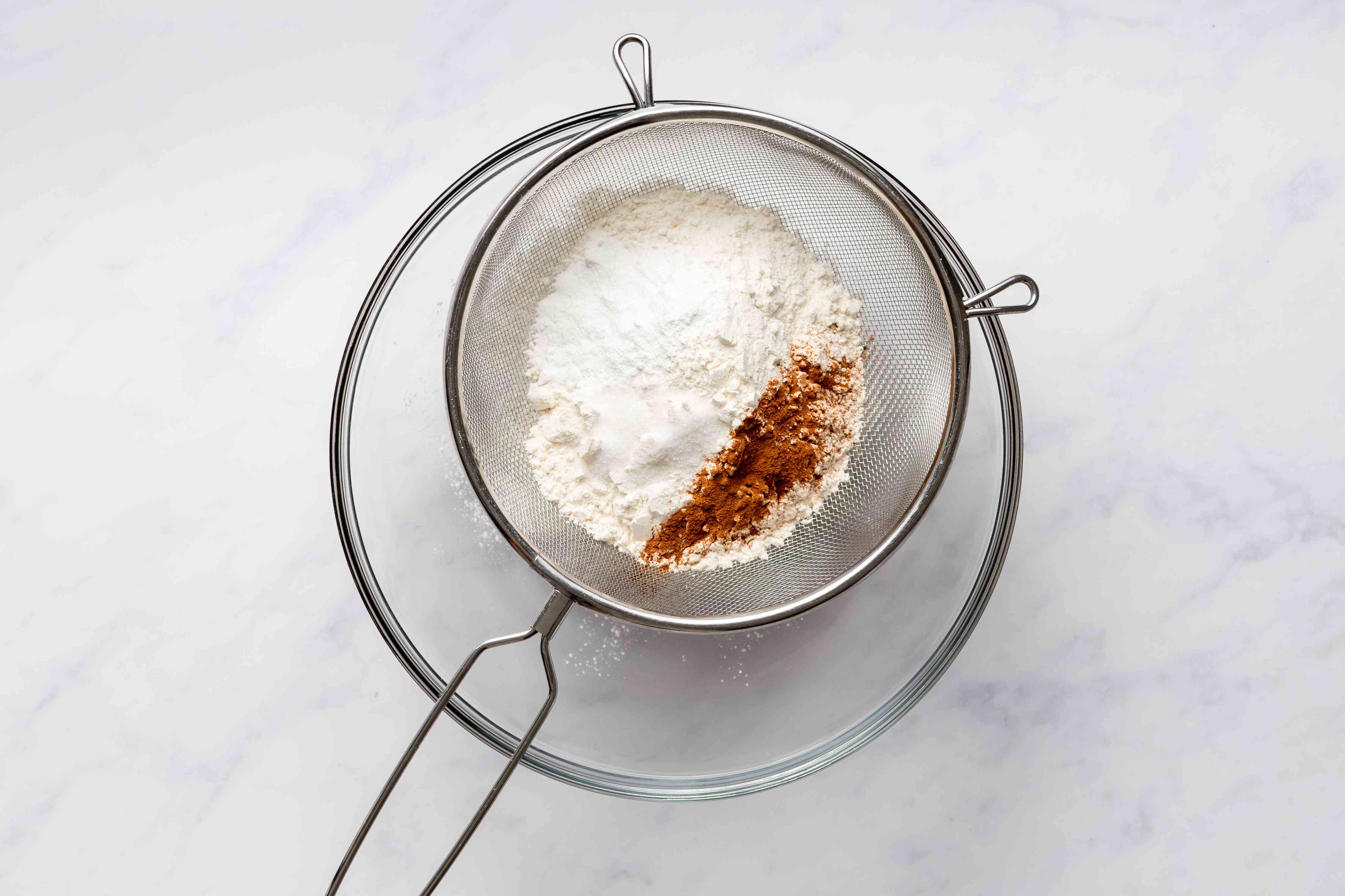 sift together the flour, baking powder, salt, and cinnamon into a bowl