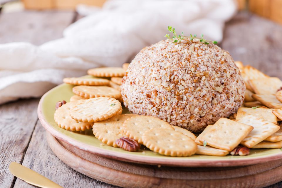 Celebration cheeseball with pecans