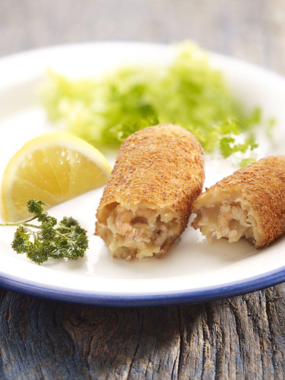 Classic shrimp croquettes